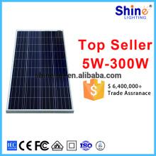 2016 poli placa solar 150W Placa solar poli preto para uso doméstico com amostra gratuita para a Índia