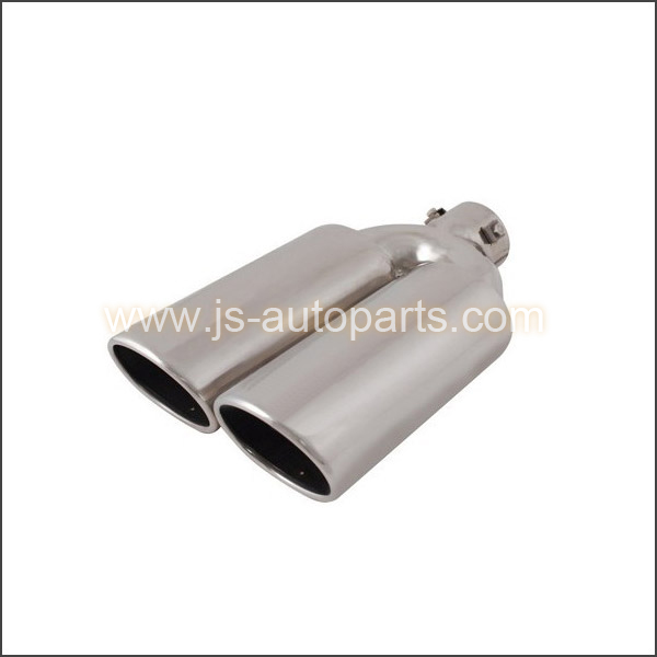 INLET 2.375 OUTLET 3.75X3 DUAL STRAIGHT CUT W RESONATED BOLT-ON EXHAUST TIP