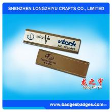 Etiqueta de nombre de personal reutilizable de acero inoxidable con el logotipo de la empresa