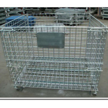 Folding Galvanized Industrial Storage Cage