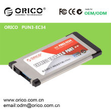 ORICO PNU3-EC34 Laptop USB3.0 Express Karte, Notebook Expresscard USB 3.0 Adapter