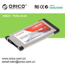 ORICO PNU3-EC34 Ноутбук USB3.0 Express Card, ноутбук Expresscard USB 3.0 Adapter