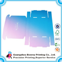 Caja de cartón laminado de impresión de papel corrugado