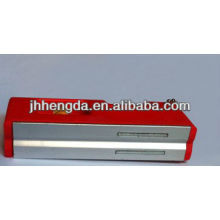 HD-MN04,mini plastic spirit level with 3 vials,aluminum level