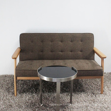 Wooden Furniture High Quality Solid Wood Sofa with Fabric Seat