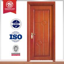 Puerta de fuego moderna de madera maciza exterior / puerta de madera maciza tallada