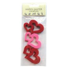 Easter lovely heart shape sticker