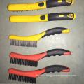 Double Colour Plastic Handle Steel Wire Brush (YY-571)