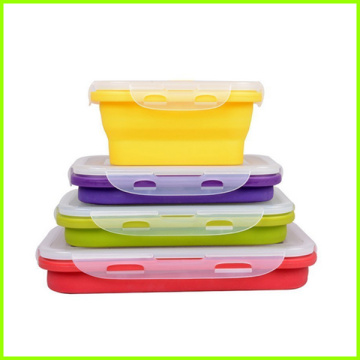 Eco-Friendly BPA Livre Conjunto de Silicone Lunch Bowl