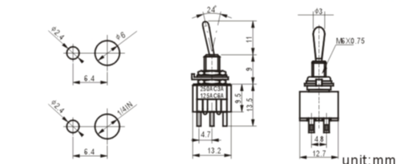 MTS-203-1 toggle switch
