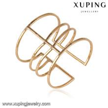 51640 Xuping 18k brazaletes plateados oro de las mujeres de la joyería para los regalos de la Navidad