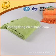 Diseño de moda de color sólido de bambú tiro manta costumbre vendido a EE.UU.
