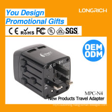 Worldwide travel adapter OEM design 2017 promotional gift items travel plug adapter N4