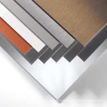 External Wall Cladding Brushed Aluminum Composite Panel