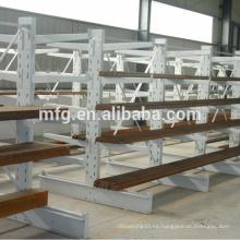 Estanterías de almacenamiento / exposición de supermercados metálicos ligeros con capas de madera