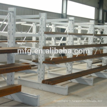 Light Duty Metallic Supermarket Storage / Display Racks avec des couches en bois