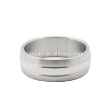 Custom Design anel de dedo do casamento do aço inoxidável