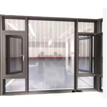 Ventanas inclinables y giratorias Vidrio templado con aluminio