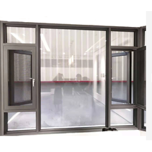 Tilt And Turn Windows Tempered Glass With Aluminium