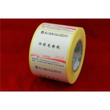 Etiqueta autoadhesiva de PVC sin imprimir