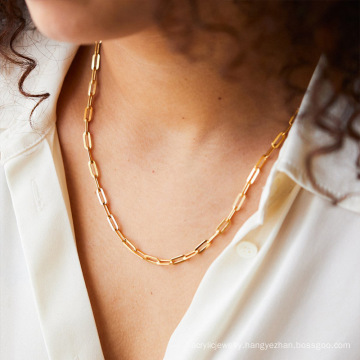 14K Gold Plated Curb Paperclip Box Sphere Bead Snake and Figaro Chain Adjustable Necklace
