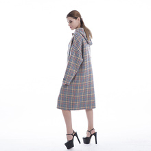 Cashmere coat color plaid