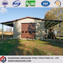 Steel Construction Warehouse for Farming with Canopy