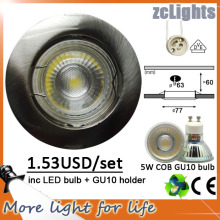 LED Downlight pour design de chambre à coucher 5W IP20 LED Down Light