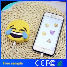 2016 Real 2600mAh Banco de Energia Funny Design Poops Emoji Carregador de Bateria Portable Cartoon Phone