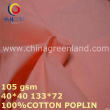 100% algodão Poplin tecido sólido rosa para camisas de roupas (GLLML446)