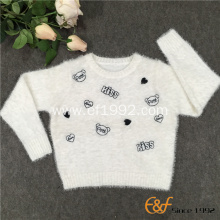 Double Layer Collar Mohair Embroidery sweater