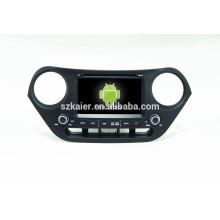 Quad core 4.4Android voiture dvd avec lien miroir / DVR / TPMS / OBD2 pour 7 pouces écran tactile complet système Android Hyundai I10
