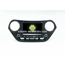 Quad core 4.4Android car dvd with mirror link/DVR/TPMS/OBD2 for 7 inch full touch screen Android system Hyundai I10