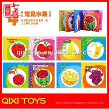 Usine direct prix fruits bébé livre de tissu exprimé bébé livre en tissu