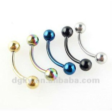 Plated multi color stainless steel fashion eyebrow ring,body jewelry jewelry