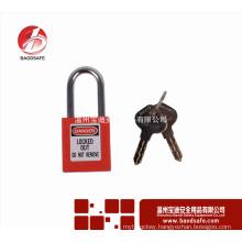 Wenzhou BAODSAFE Steel Xenoy Safety Padlock Lock BDS-S8601D Red