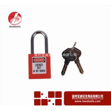 Wenzhou BAODI Acier Xenoy Verrouillage de cadenas de sécurité BDS-S8601D Rouge
