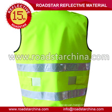 Washable reflective security vests