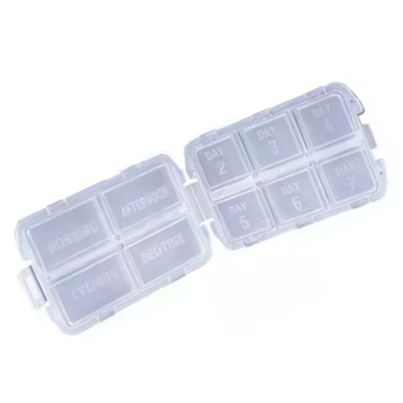 Folding Pill Organizer Box 10 Compartments