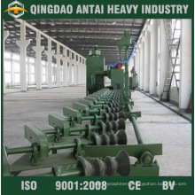 External Pipe Shot Blasting Machine with Roller Conveyor