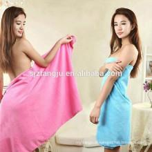 toalha de chuveiro colorida do microfiber, toalha de chuveiro da promoção para o mercado americano