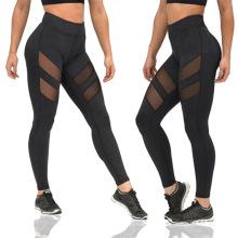 Women Mesh Patchwork Sport Leggings running gym High Waist workout scrunch butt shaper  yoga pants Tights