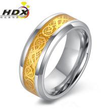 Moda de los hombres de acero inoxidable joyas anillo de dedo (hdx1052)