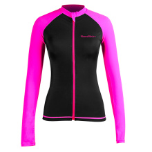 Seaskin Front Zip Surf Rash Gaurds For Womens