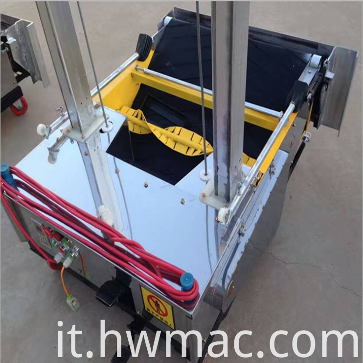concrete wall cement plastering machine