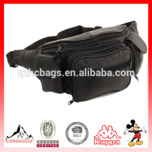 Nouveau sac lombaire de taille de hanche de taille de cuir de grande banane avec la double poche de téléphone portable