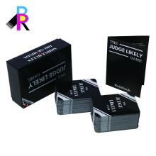 Naipes y caja rígida fabricante de china de impresión personalizada