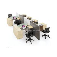 Station de travail en bois d'ordinateur de bureau moderne moderne (HF-YZT0060)