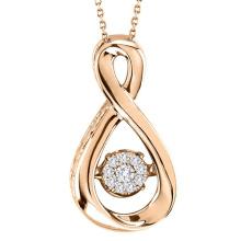 Infinity Dancing Diamond Anhänger Schmuck 925 Silber Anhänger