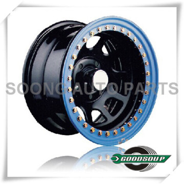 "Daytona-Beadlock Wheels GS-20103 Steel Wheel from 15"" to 17"" with different PCD, Offset and Vent hole"